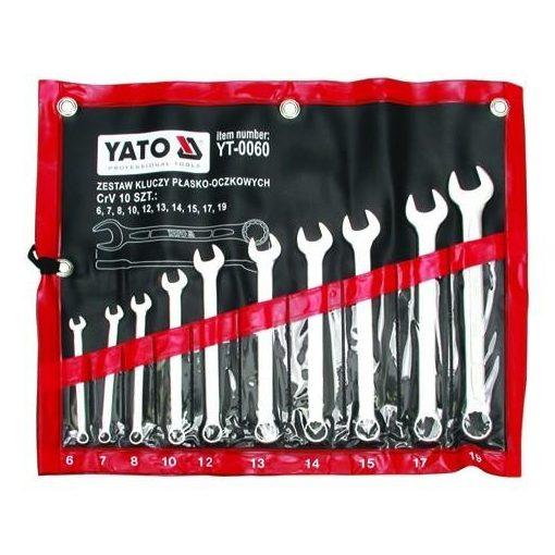 Yato csillag-villás kulcs készlet - 10 részes - 6-19 mm - ipari - CrV 6140
