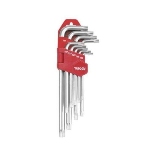 Yato Torx kulcs készlet - 9 részes - hosszú - T10-T50