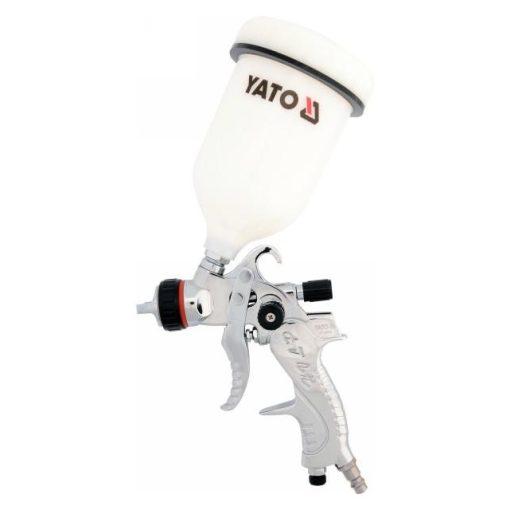 Yato - festékszóró pisztoly - felsőtartályos - 0,6 L -  410 l/perc - HVLP